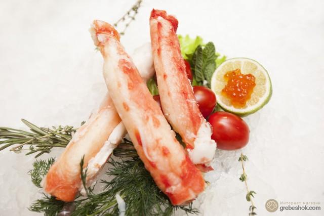 Мясо камчатского краба первая  фаланга, Экстра, 0.5 кг
